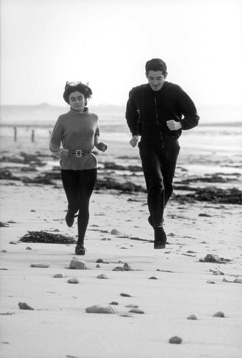 Agnes Varda with Jacques Demy, 1965.  #RIP<br>http://pic.twitter.com/3rWAuYPasR
