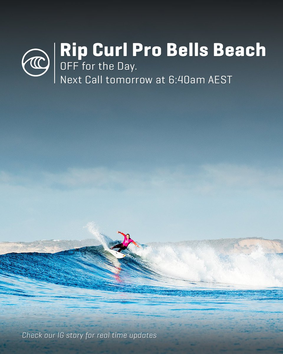 """8 Pst To Aest world surf league on twitter: """"the #ripcurlpro bells beach"""