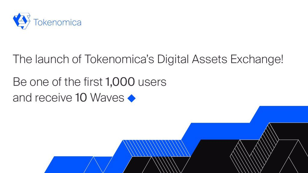 Tokenomica's Digital Assets Exchange has fully launched. Be one of the first 1,000 users to register and receive 10 Waves! http://vfa.tokenomica.com