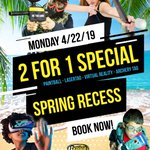 Image for the Tweet beginning: ☀⚠ SPRING RECESS 2-For-1 Special