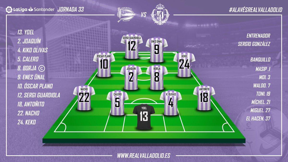 XI Valladolid (VS. Alavés): #LaLiga