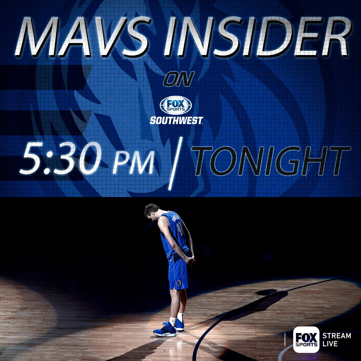 Don't miss this very special @dallasmavs Insider as we start to say goodbye to @swish41. #MFFL  📺 FOX Sports Southwest | ⌚ 5:30 pm
