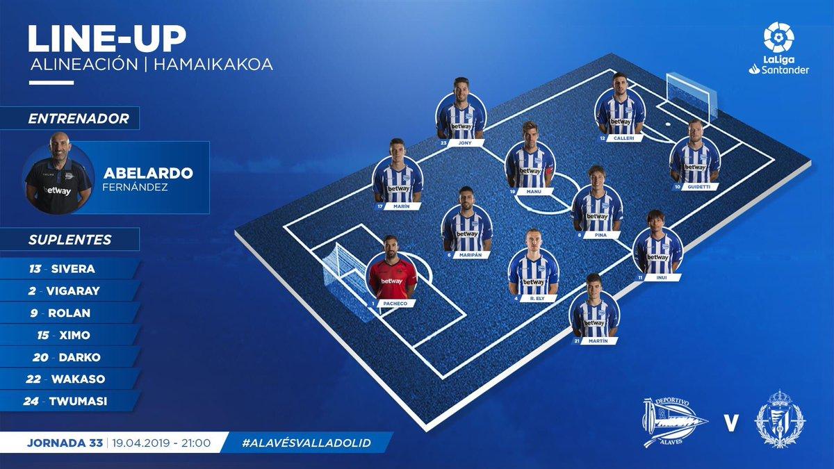 XI Alavés (VS. Valladolid): #LaLiga