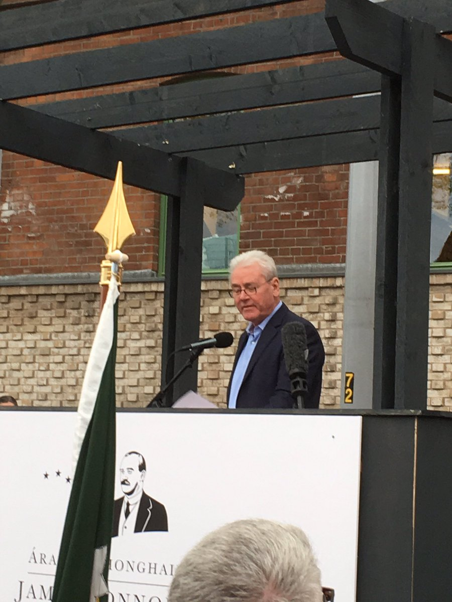 'James Connolly would fight soft borders, hard borders, virtual borders or any kind of damn borders at all' says Terry O'Sullivan, President of LIUNA at the opening of @JamesConnollyVC #