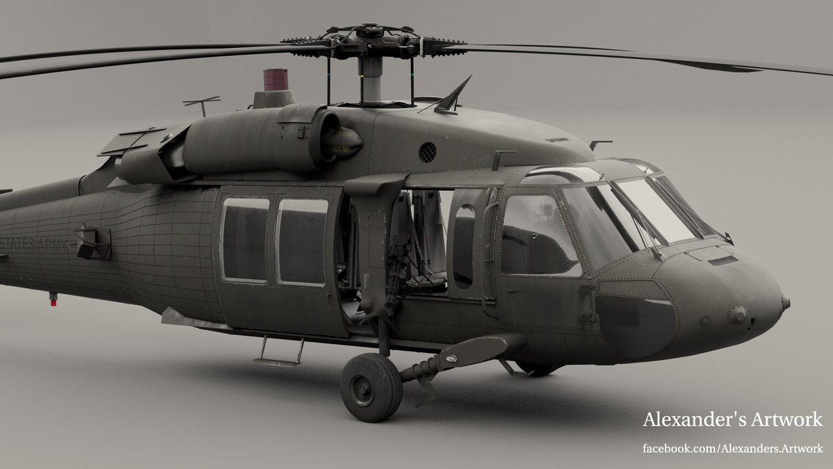 Second Shader Pack is avaliable for The Blackhawk Helicopter on