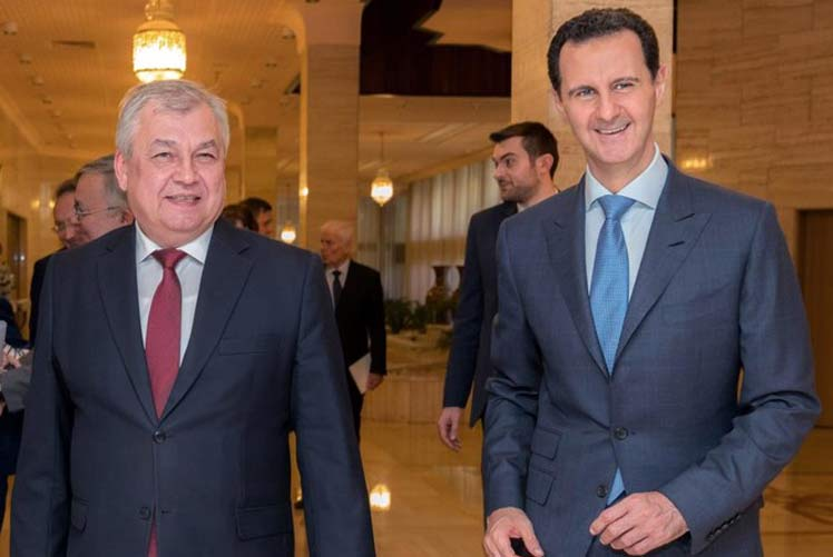 Syrian President meets with special envoy from Russia.