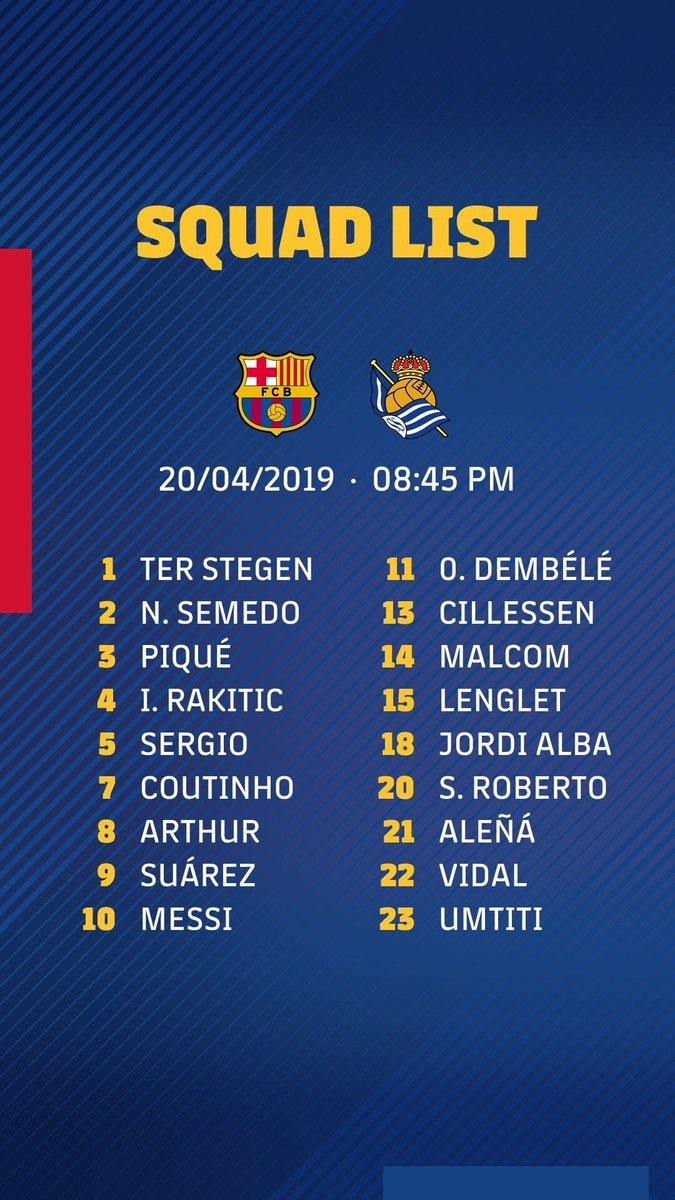 📋Messi, Suárez, Piqué, Rakitic y S. Roberto REGRESAN a la CONVOCATORIA liguera de Valverde para el Barça-Real Sociedad.