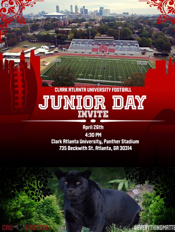 Junior Day &amp; Spring Showcase next Friday the th! Looking for some  2020 prospects coming  CAU Football  ain't playing #EverythingNew #EverythingMatters #DSSCLPP<br>http://pic.twitter.com/HGCHHK6OrC
