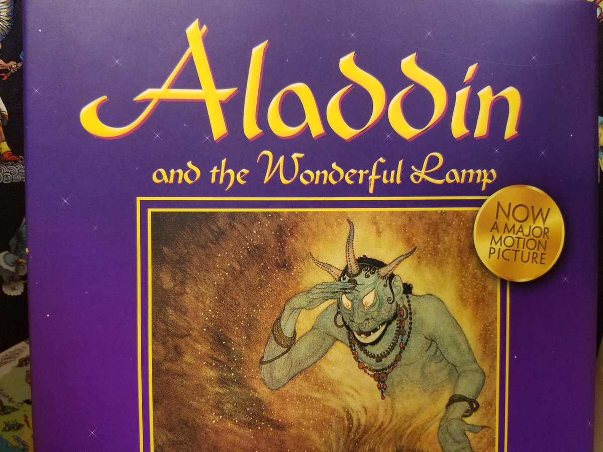 This is possibly the weirdest way ever to sell a public domain book. Being so vague about free advertisment for the movie while having next to nothing similar to either of Disney&#39;s adaptations. #Aladdin #aladdin2019 <br>http://pic.twitter.com/ERet1msQt6