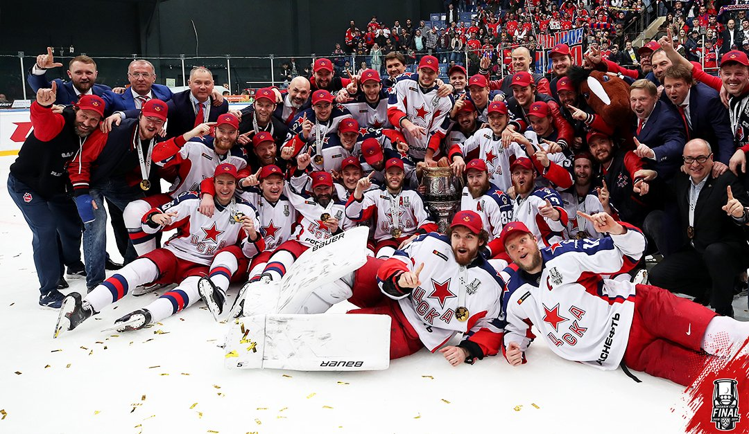 Your 2019 #GagarinCup Champions – CSKA Moscow.