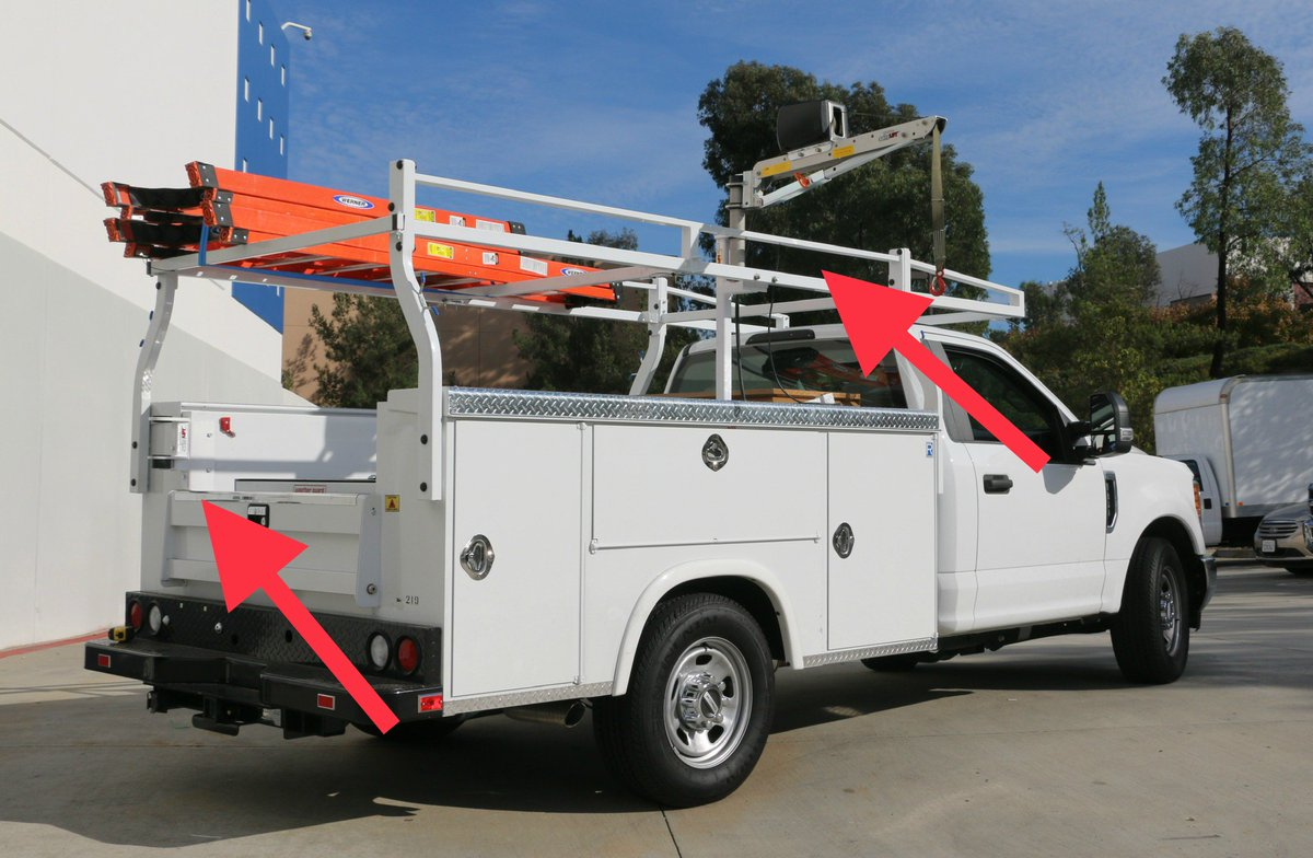 SpitzLift crane on a Royal Truck Body with Ford Chassis