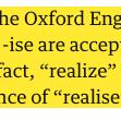 "Image for the Tweet beginning: ""-ize"" was originally a Britishism."