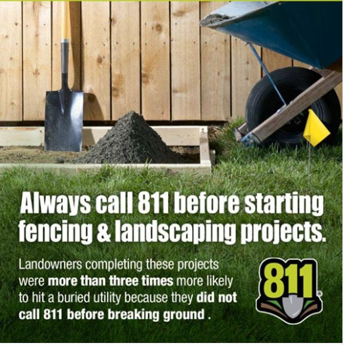 Every digging project requires a call to 811.  Creating a Locate Request at https://t.co/LyICPGYuS3…