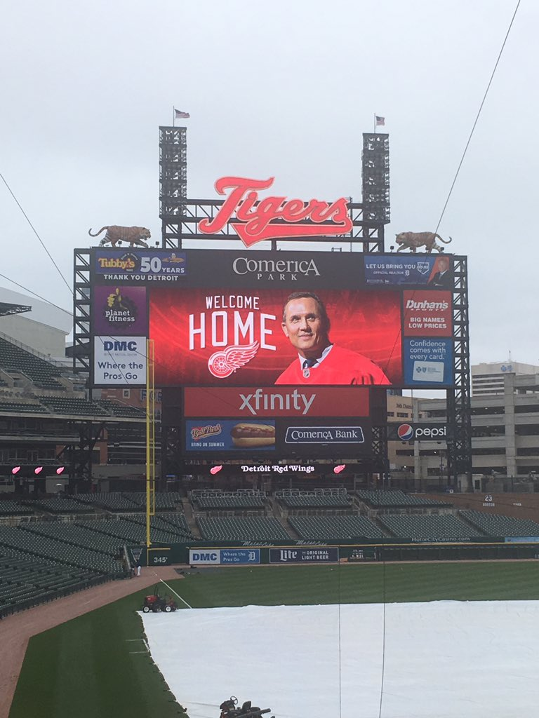 Good afternoon from Comerica Park, where