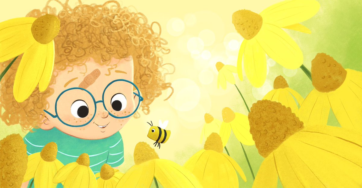 My entry for this week's #colour_collective! The color was Lemon Yellow. Happy spring!  #KidLitArt #childrensillustration #illustrator #illustrationart<br>http://pic.twitter.com/pNxcSuv9HU