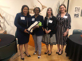 Fox hosted an evening of cocktails and conversation on the importance of self-advocacy, mentorship and authentic networking with @penn_state's new Chief Compliance and Ethics Officer, @KenyamesqMy, at @mccc. #mentor #network