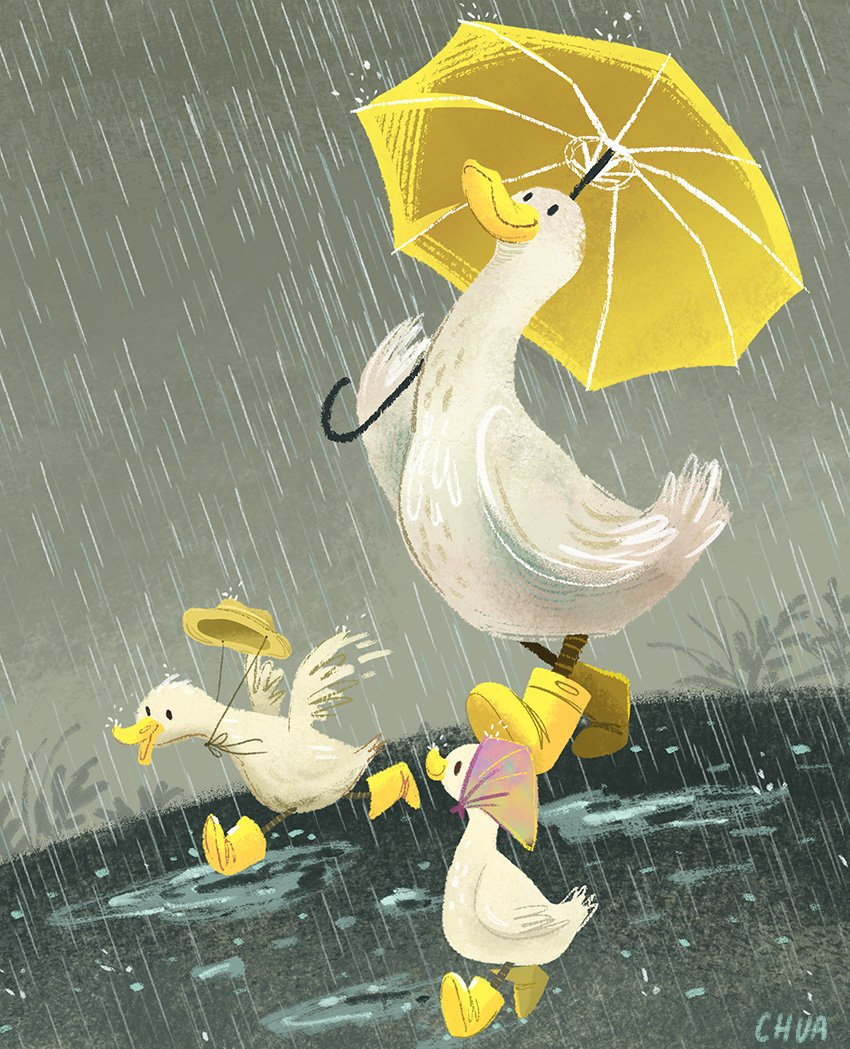 It&#39;s supposed to be Spring but it&#39;s all rainy outside. Even ducks need rainboots! #colour_collective #LemonYellow   #kidlitart #childrensillustration #ChildrensBooks #kidlitillustration #PictureBookArt<br>http://pic.twitter.com/2PhGJxDzkm