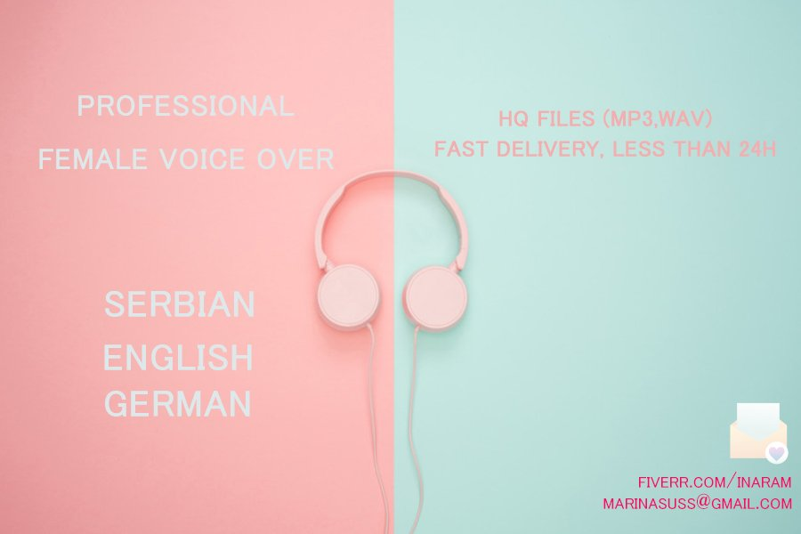 Check my profile for HQ Professional voice over- ENG-SRB-GER. 🎙️ https://www.fiverr.com/inaram  #voiceover #narration #voicetalent #voiceactor #broadcast #fiverr #radio #dj #intro #outro #narration #explainer #voiceoverartist #HQ #translation #audio #music #mixape #intro #voa