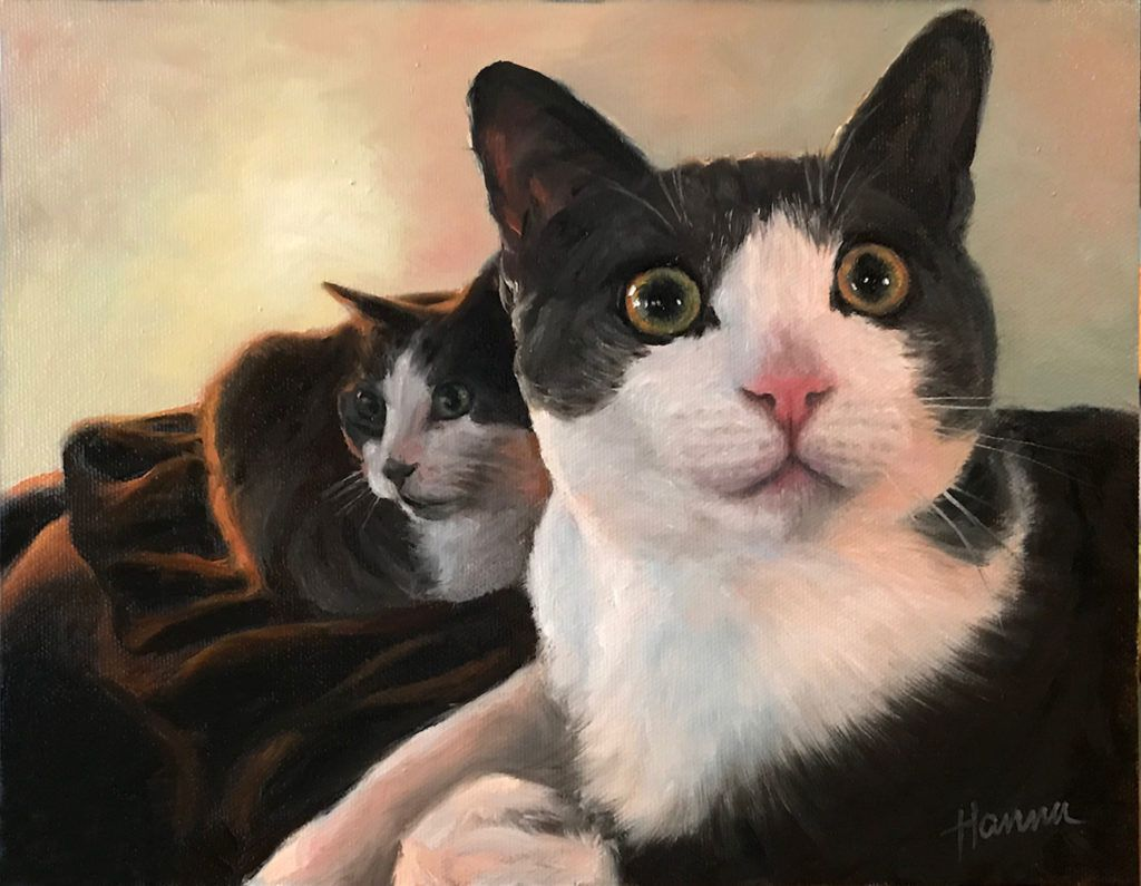 I get a little attached to the portraits I do. I sure do miss these two! I laughed every day painting when they were on the easel. https://buff.ly/2Z6rQyx #cats #oilpainting #petportraits #catlover #inspiration #ArtistOnTwitter #Caturday #KCMO