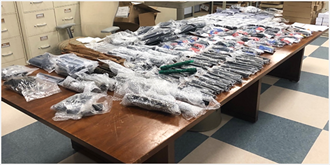 A Miami Air and Marine Branch AS350 crew conducted surveillance in a multi-agency effort investigating illegal firearm modification & violations of importing/exporting military goods. Based on #AMO intelligence, Task Force agents seized 692 AR-15 parts headed to Costa Rica.
