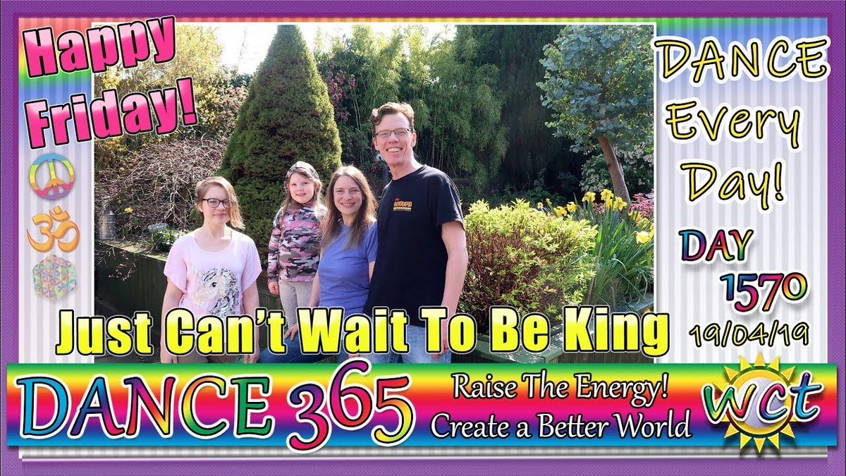I JUST CAN'T WAIT TO BE KING! HAPPY FRIDAY! Have a GREAT weekend everyone! #Dance365 #DanceEveryDay #RaiseTheEnergy #CreateABetterWorld #Energy #healing #connection #waken #connect #transform #frequency #vibration #love #family #tribe #WakeUp #StarBlossom https://buff.ly/2GqJrs9