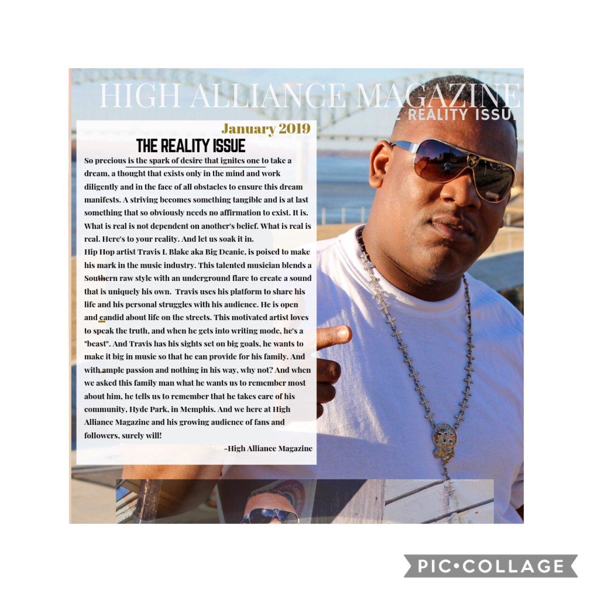 Memphis artist @flossthadean article in @highalliancemagazine #macwoodmemphis #IndieSpeaks #IndieNation #Blog #Indie #indieartist #music #newmusic #musicvideo #rap #hiphop #hiphopartist #rockband  #dj #newartist #songwriter #independentartist  #rapper #bigdeanie