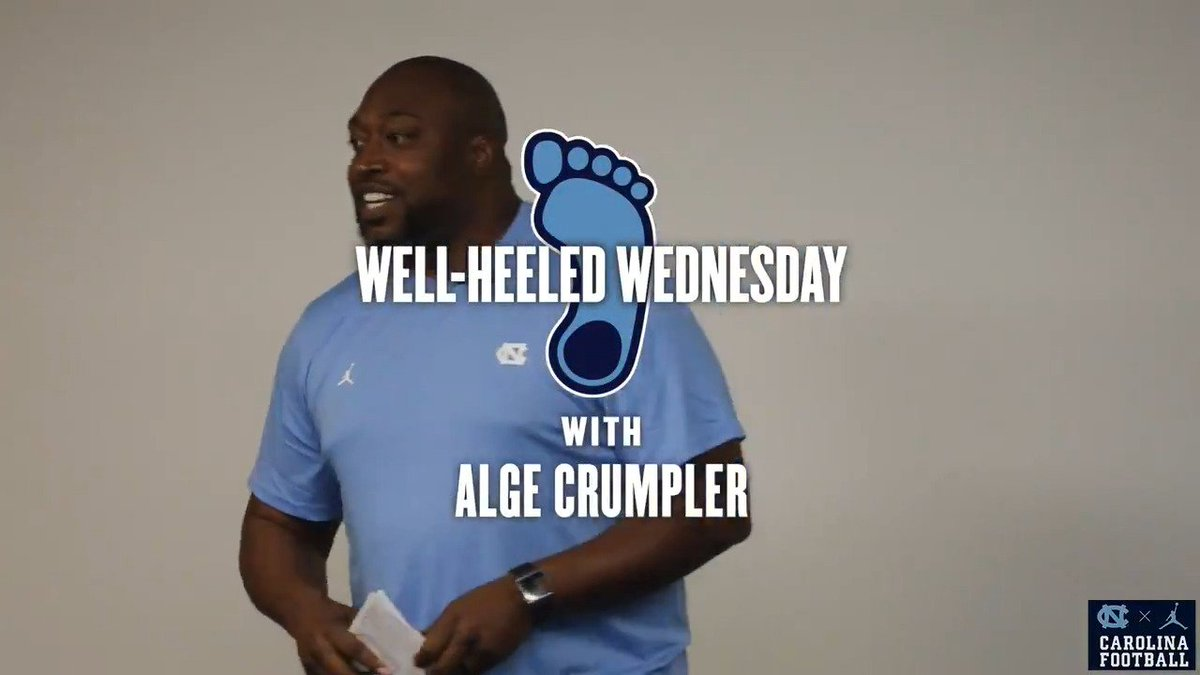 We were fortunate to have a special guest drop by to share another important message.  Thanks to @Alge_Crumpler for taking part in #WellHeeledWednesday.  #CarolinaFootball | #BeTheOne