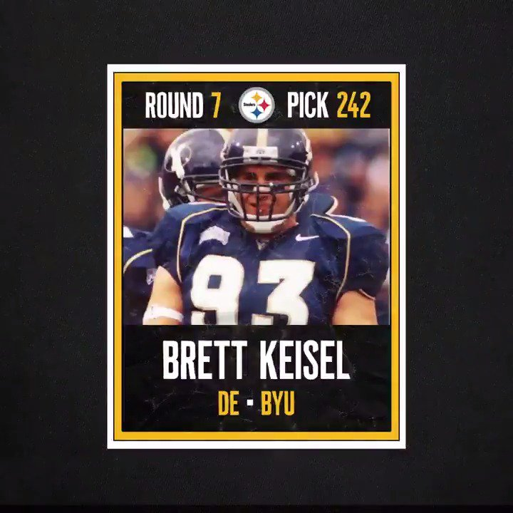 #OTD in 2002, we selected a DE from BYU with the 242nd pick in the #NFLDraft.  #SteelersDraft | @bkeisel99 https://t.co/DNnV16624q