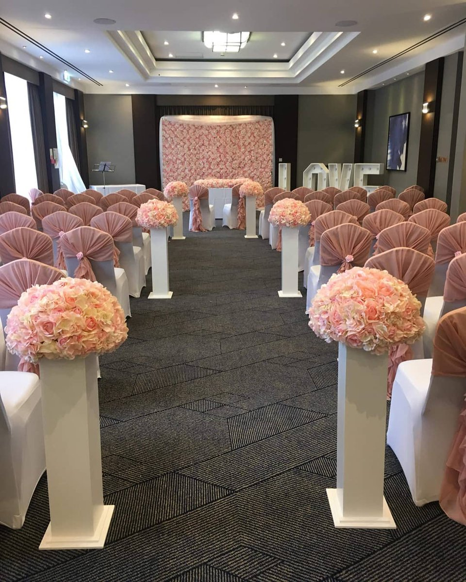Some photos sent of last week's ceremony set up from the lovely bride. More photos to come. #wedding #weddingday #ceremonyroom #weddingdecor #weddingceremony #weddingseason #WeddingVibes #weddinginspo #weddingideas