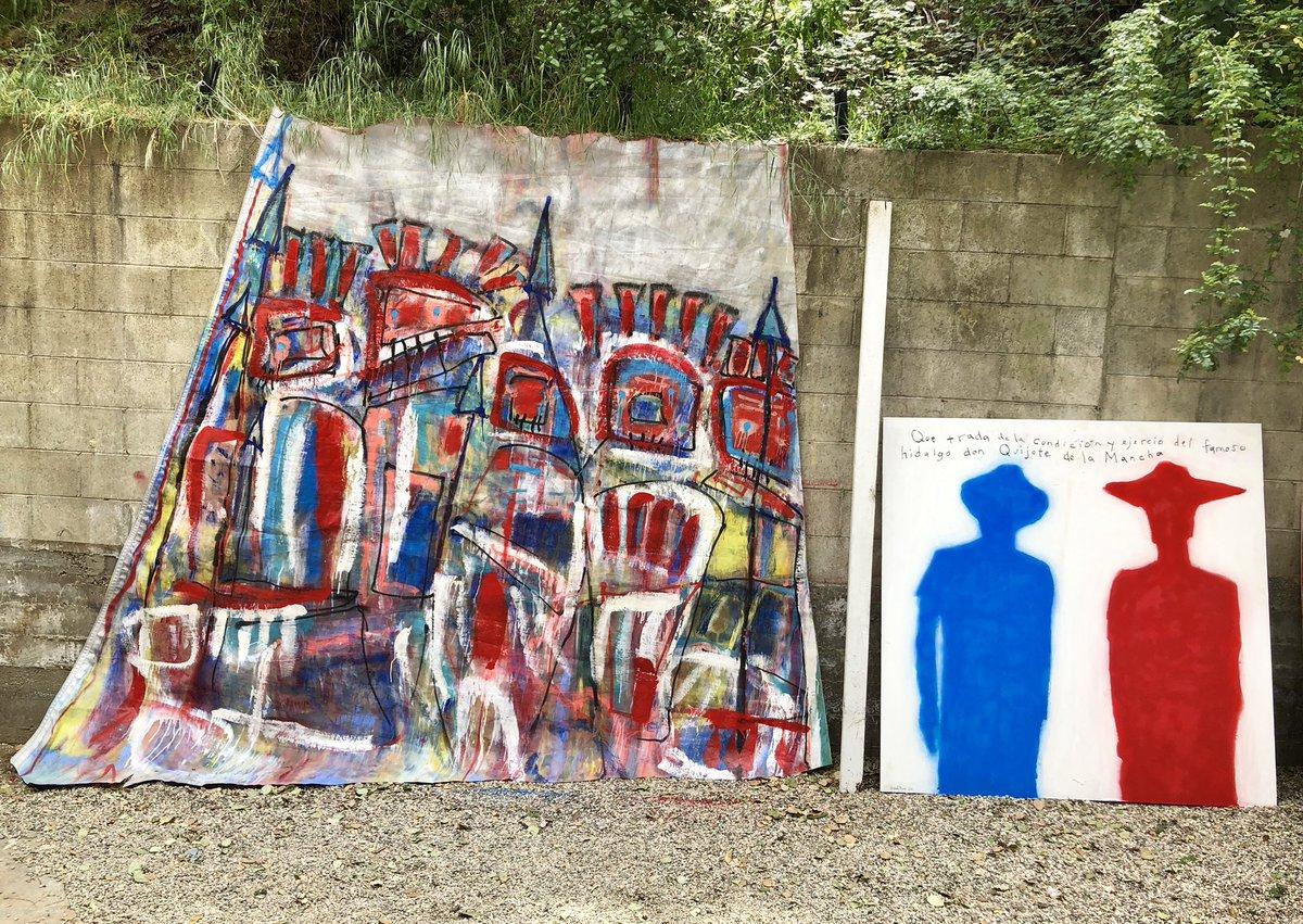 Friday / #LivePainting #PaintedPanels #Mobiles #Rain #InteractiveArt #PaintOnWood #Totems #Aerosol #Portrait #OilPainting #OilPastels #PaintedPanels #FoundObjects #AskNoPermission #MichaelOrnstein #Artist #Painter #Words #Mayans #MayansMC #SonsOfAnarchy