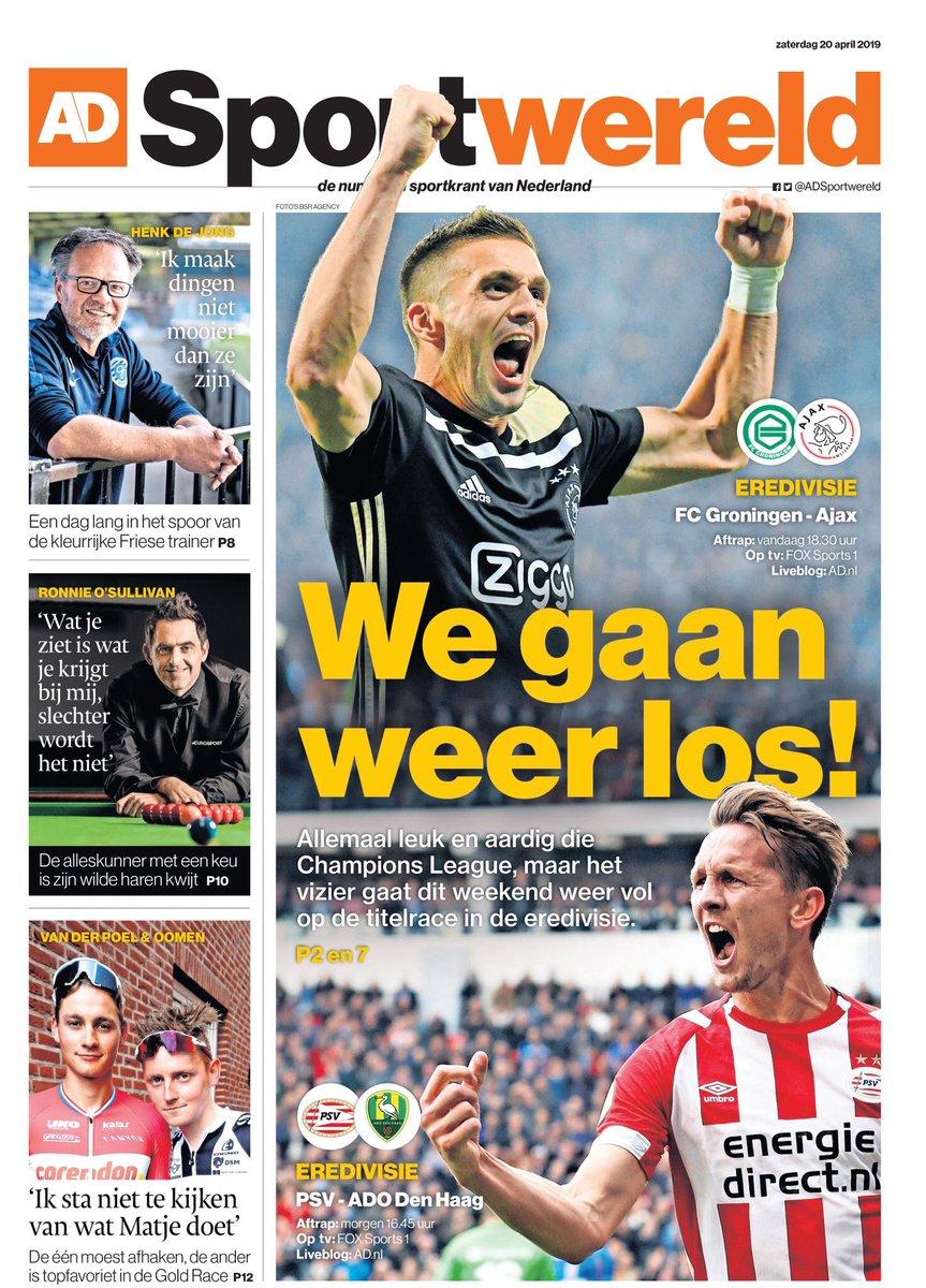 AD Sportwereld. April 20. #frontpage #primapagina #rassegnastampa #portada #backpage #football#sports