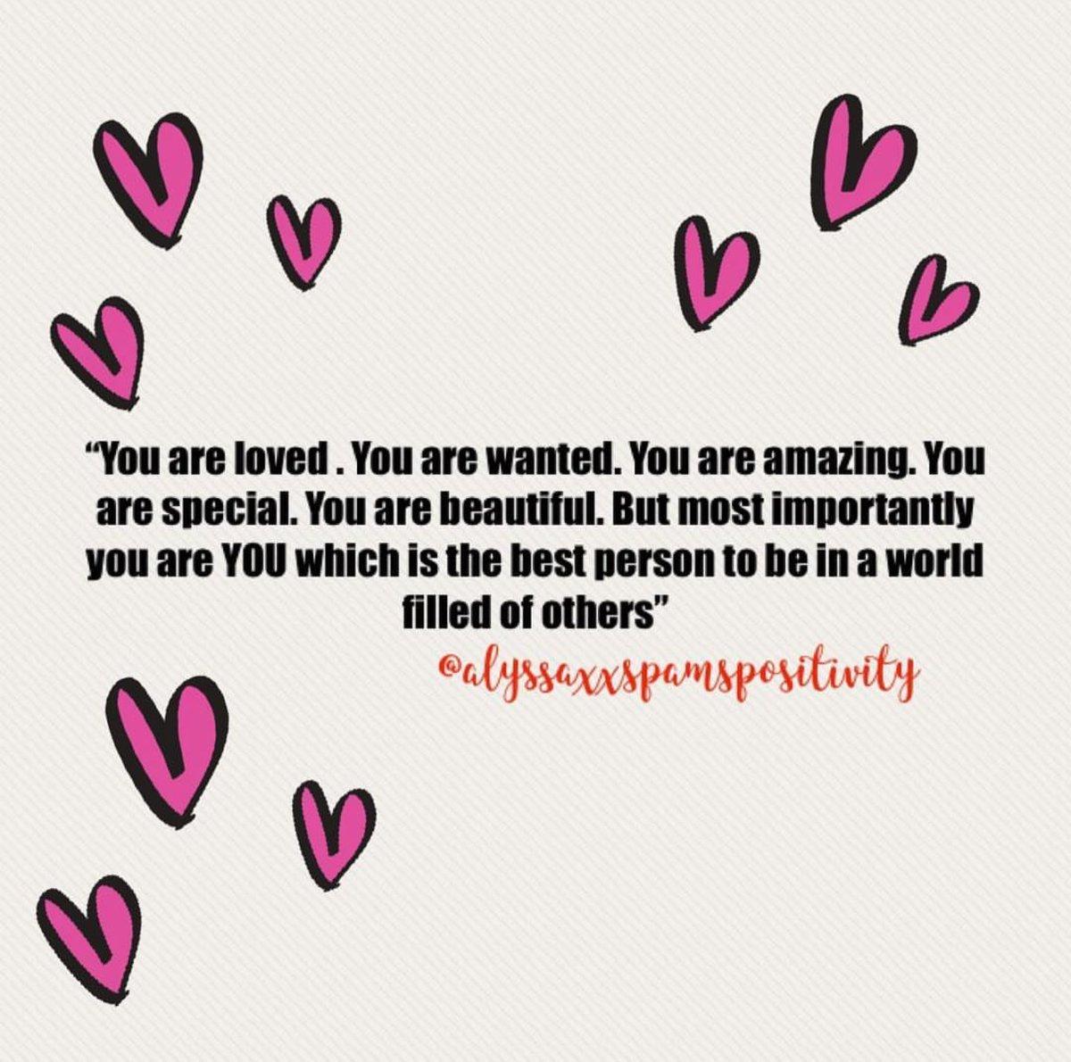 @alyssaspamspositivity on Instagram #positivity #beyourself #everyoneisloved