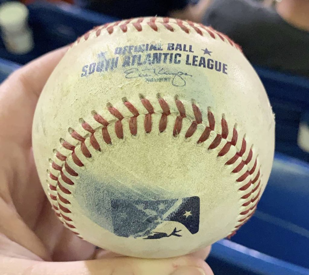 Caught my first foul ball at the @GoTourists game last night! #baseball #ashevilletourists