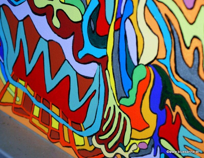 HotDog 01.08.2015 40 x 40 cm Acryl + Marker auf Leinwand🌈🖼️🙃👩🎨🖌️🎨 #Bluesanne #BluesanneBunt #BluesanneBILD #art #Kunst #abstrakt #Popart #bunt #color  #Original #Unikat #Ausstellung #hot #dog #HotDog #Acryl  #Leinwand #Marker