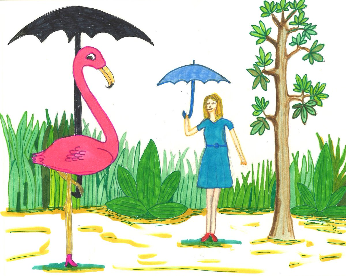 https://bluefoxcafe.wordpress.com/2019/04/19/imaginary-friend/… #drawing #illustration #IllustrationFriday #imaginary #friend #psychology #humor #satire #outdoors #umbrellas This woman never goes anywhere without her imaginary friend.