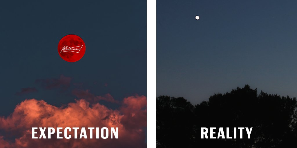 I thought we agreed on Budweiser red...@NASA #PinkMoon