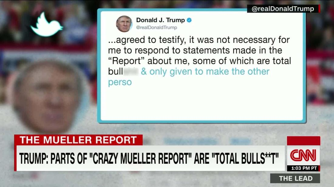 Mueller report exposes Trump's lies, as recounted by his own staff @kaitlancollins reports @TheLeadCNN https://cnn.it/2XuEGVl