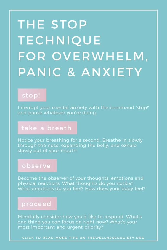 When feelings of anxiety and panic overcome you it becomes difficult to see past it. Try to utilize the STOP technique to calm yourself and become more aware of the thoughts that are cycling through your mind.  . . . #mentalhealth #anxiety #panic #stoptechnique #easeanxiety