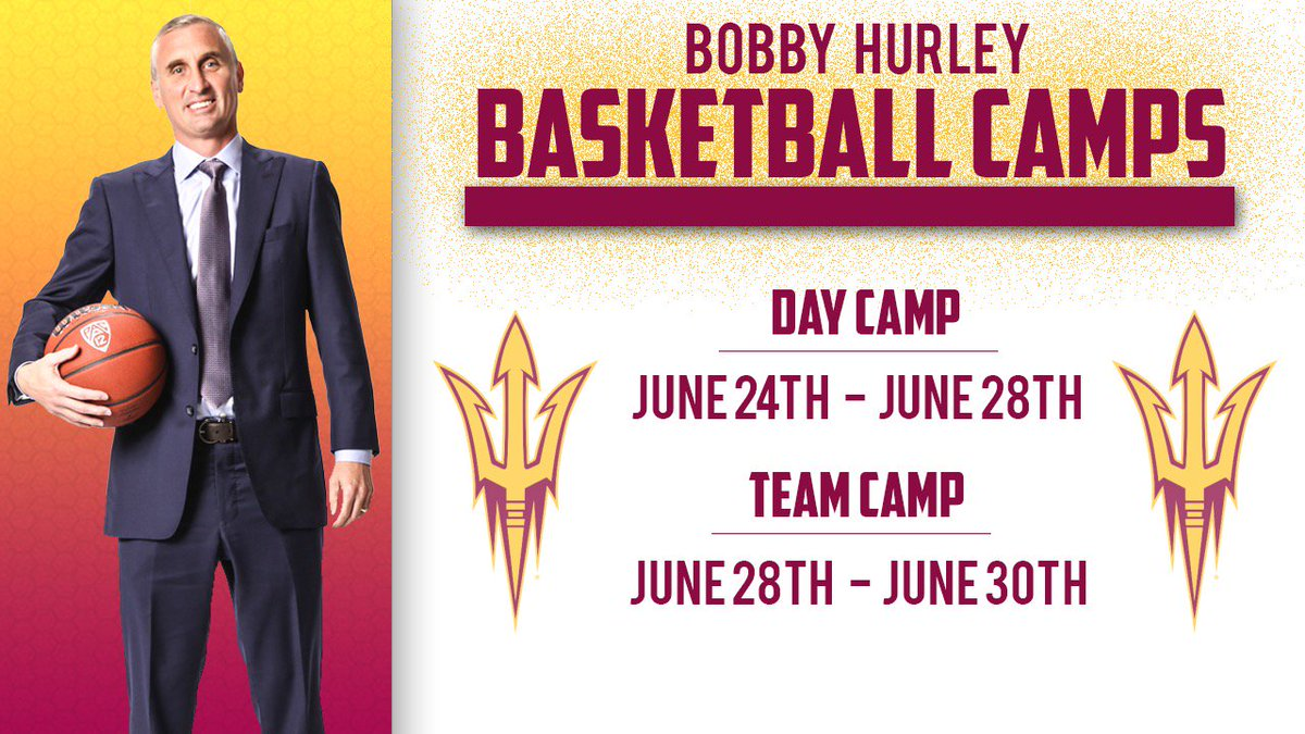 We got camp dates! Team and individual! Spread the word https://thesundevils.com/news/2019/4/19/mens-basketball-2019-bobby-hurley-camp-dates-set.aspx … Tell your @ASU friends and your @ASU_Alumni buddies ...