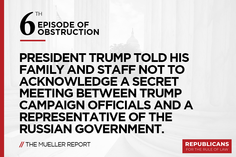 Republicans for the Rule of Law's photo on #MuellerReport
