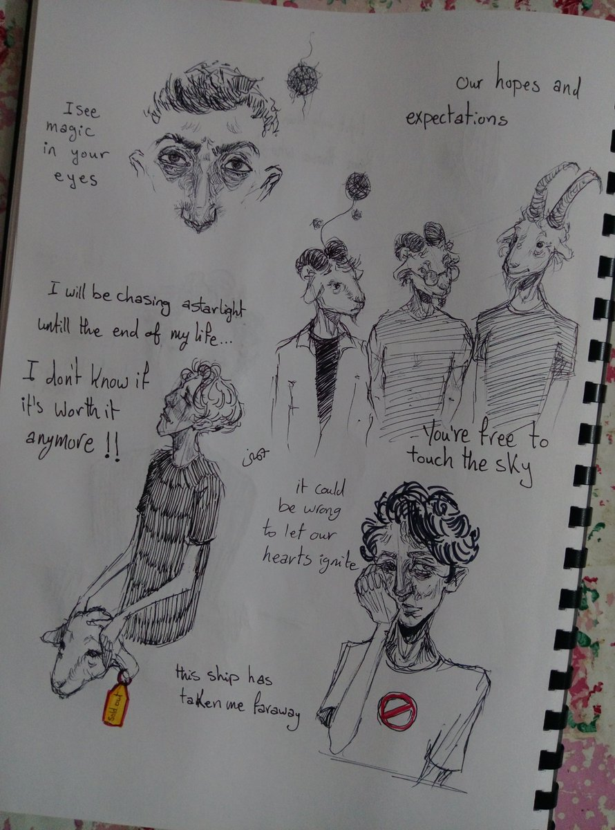 RT @yomnanouh: You're free to touch the sky. I don't know if it's worth it anymore. #sketchbook #Muse #messylines https://t.co/RHmR7MMXBg