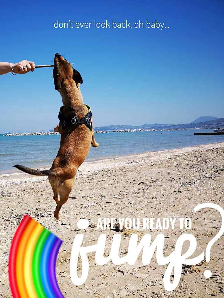 Salta amore mio... ❤️ #free #frida #jump #madonna #rainbow #sea #summeriscoming