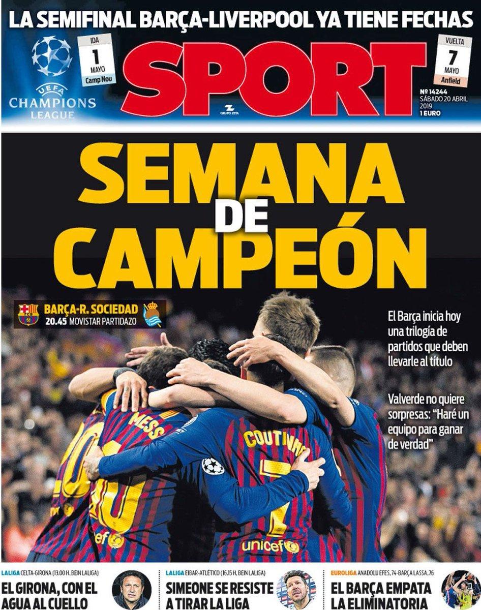 'Week of champions' [sport]