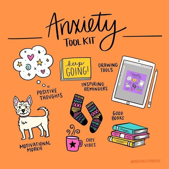 Continue to build your coping skills tool kit so that you are prepared for when anything anxiety provoking comes your way. #mentalhealth #anxiety #copingskills #copingskillstoolkit