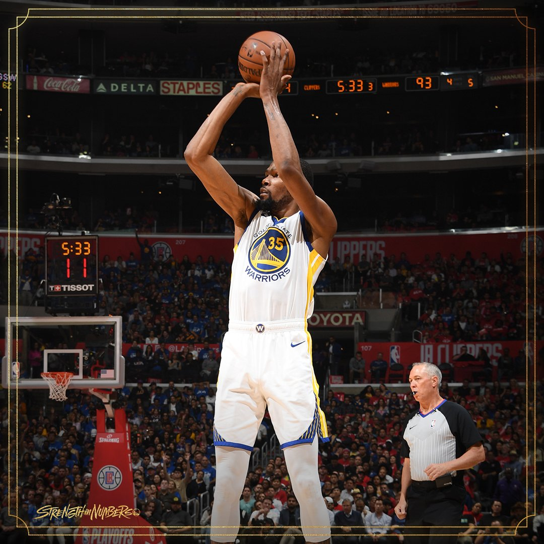"""""""He's Kevin Durant.""""  The Dubs took care of business to grab a 2-1 lead in the series.  The latest Film Session breaks it down 📹"""