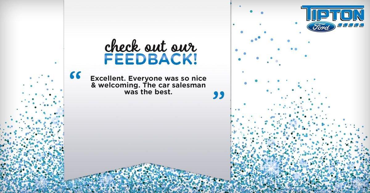Happy #FeedbackFriday! Your kind words always get us in the #FridayFeeling https://t.co/LygA9TU8fg