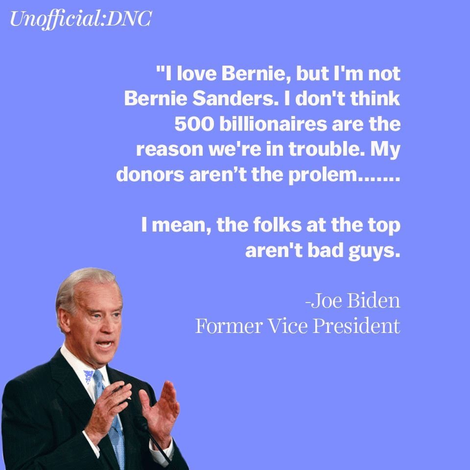 Can America really afford Joe Biden?  While Bernie is out there fighting against people like Bezos, Joe Biden thinks they&#39;re just fine.   We can&#39;t afford more of the same which gave Trump the White House to begin with.  Get involved &amp; support #Bernie2020 !   #FeelTheBern2020<br>http://pic.twitter.com/VyvKBwLDoG