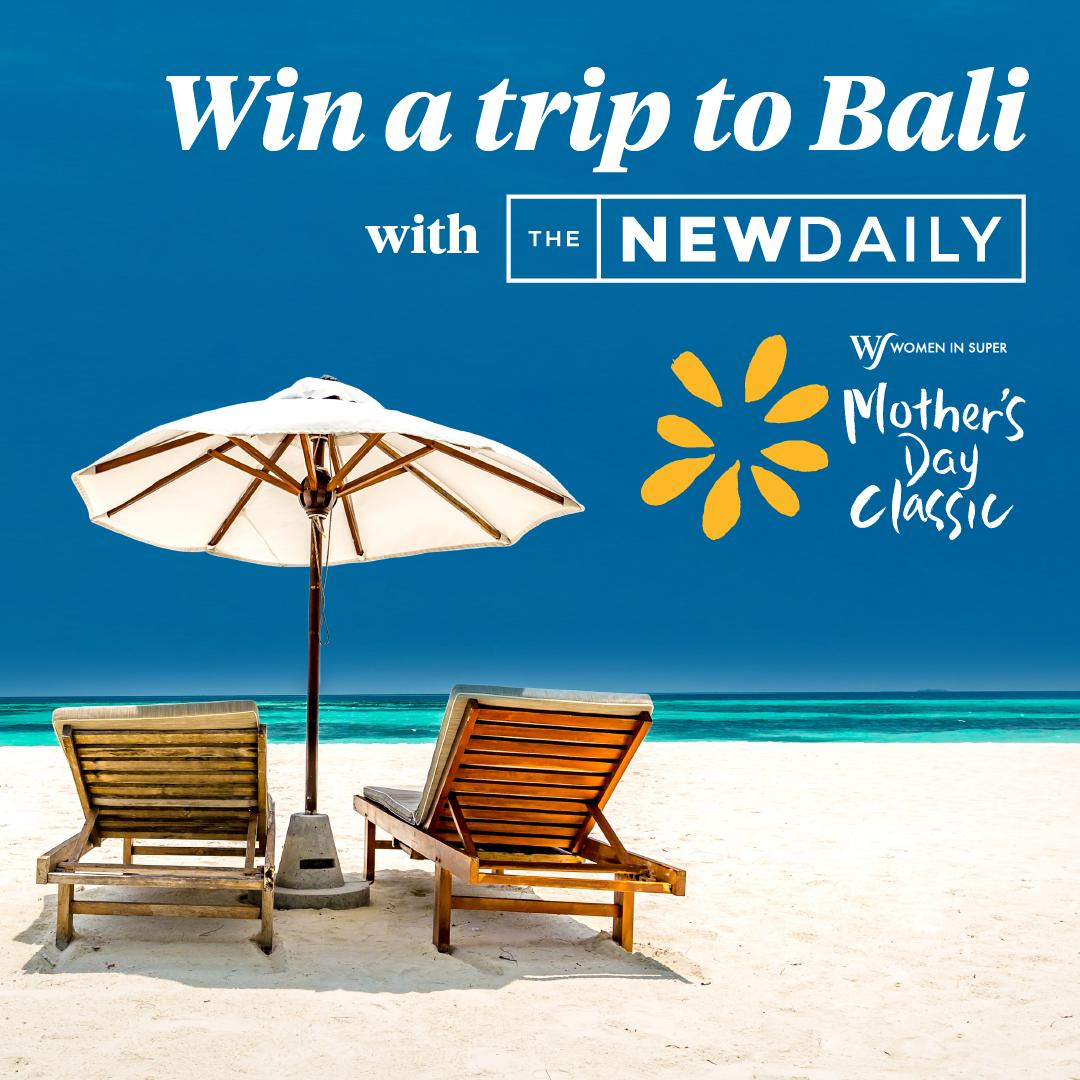 This year we are giving one lucky winner the chance to WIN a trip for two to Bali All you need to do is subscribe to @TheNewDailyAu and register for the Mother&#39;s Day Classic to be in the running! #mdc2019 #makeitmeanmore<br>http://pic.twitter.com/C6afUlBcBG