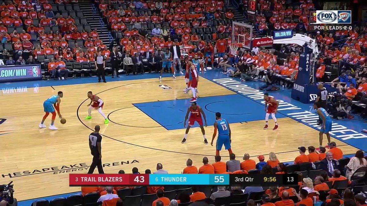 ROCKIN' THE DAME BABY!   #ThunderUp | #NBAPlayoffs