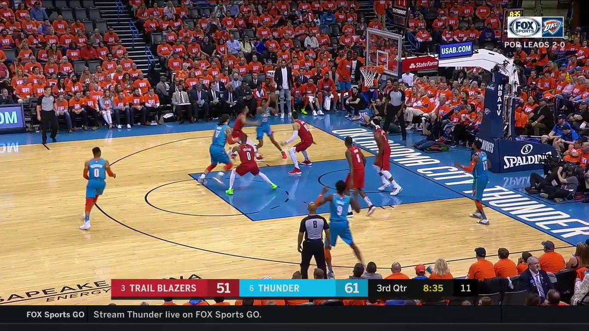 J3RAMI GRANT!  #ThunderUp | #NBAPlayoffs